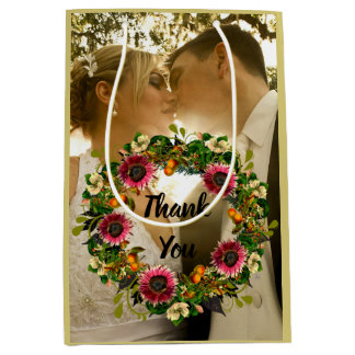 "Wreath ""Victoria Wedding"" Flowers Floral Gift Bag"