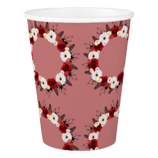 Wreath Wedding Flowers Floral Dixie Coffee Cold Paper Cup