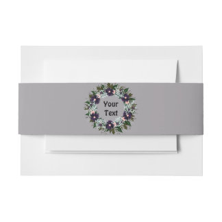 Wreath Wedding Flowers Floral Invitation Invitation Belly Band