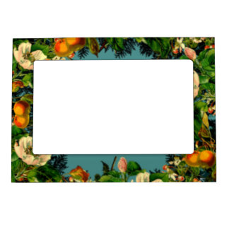 Wreath Wedding Flowers Floral Picture Photo Framed Magnetic Frame