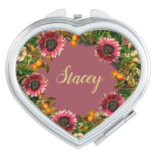 Wreath Wedding Flowers Floral Vector Gold Stacey Makeup Mirror