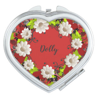 Wreath Wedding Flowers Floral Vector Hearts Dolly Mirrors For Makeup
