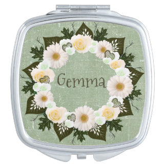 Wreath Wedding Flowers Floral Vector Olive Gemma Mirrors For Makeup