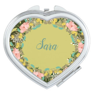 Wreath Wedding Flowers Floral Vector Sara Sarah Makeup Mirror