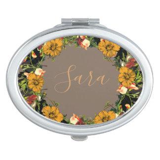 Wreath Wedding Flowers Floral Vector Sara Sarah Vanity Mirror