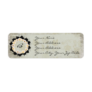 "Wreath ""White Wedding"" Return Address Labels"