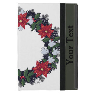 "Wreath ""Winter Roses"" Flower Floral Mini iPad Case"