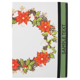 "Wreath ""Winter Roses"" Flowers Floral iPad Case"
