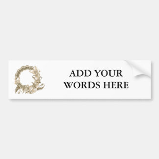 Wreath with Butterflies and Flowers Bumper Sticker