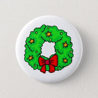 Wreath With Stars 2 Inch Round Button