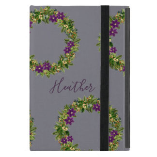 "Wreath ""Wow Purple"" Flowers Floral iPad Mini Case"