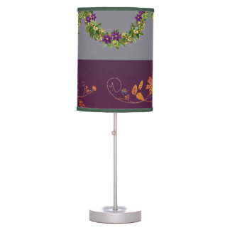 "Wreath ""Wow Purple"" Flowers Floral Lamp"