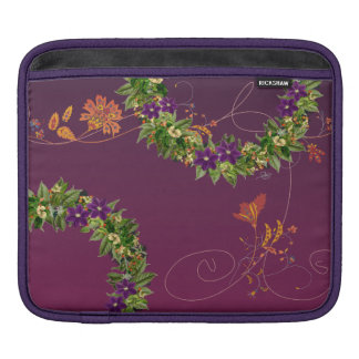 "Wreath ""Wow Purple"" Flowers Floral Laptop Sleeve"