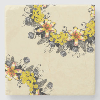 "Wreath ""Yellow Yellow"" Flower Floral Coasters"