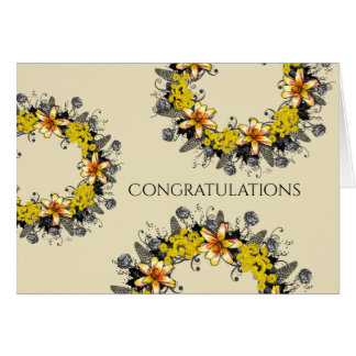 "Wreath ""Yellow Yellow"" Flower Floral Greeting Card"