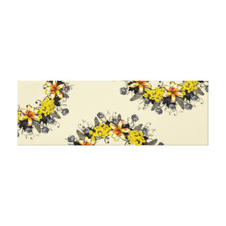 "Wreath ""Yellow Yellow"" Flowers Floral Canvas Print"