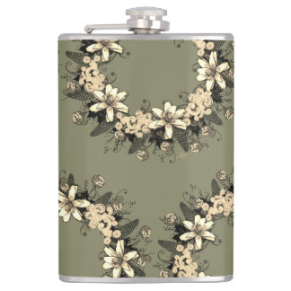 "Wreath ""Yellow Yellow"" Flowers Floral Flask"