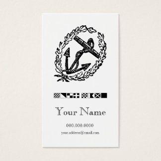 Wreathed Anchor Code Flag Personal Calling Card