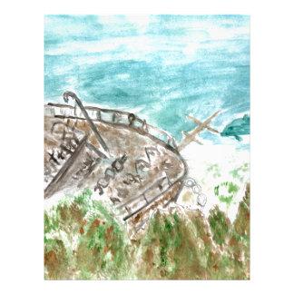 Wreck Boat Art Letterhead