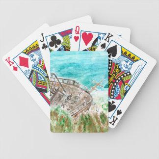 Wreck Boat Art Poker Deck