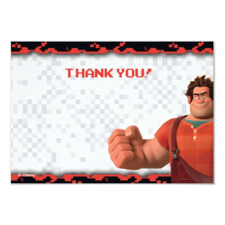 "Wreck-It Ralph 1 Thank You Cards 3.5"" X 5"" Invitation Card"