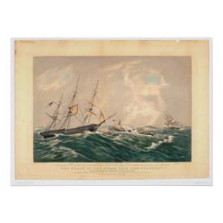 """Wreck of the Steamship """"San Francisco"""" (1877A) Poster"""