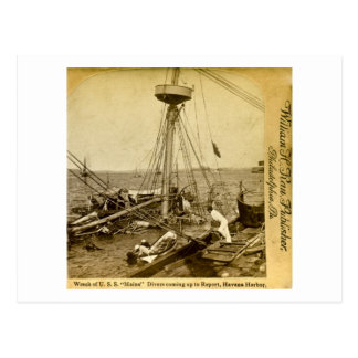 Wreck of the U.S.S. Maine, Divers Coming Up Postcard