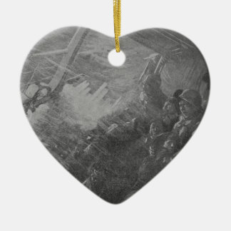 Wreck & Sinking of the Titanic 1912 Ceramic Heart Ornament