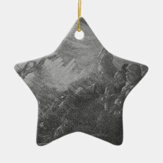 Wreck & Sinking of the Titanic 1912 Ceramic Star Ornament