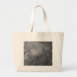Wreck & Sinking of the Titanic 1912 Large Tote Bag