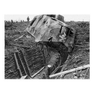 Wrecked Panzer Postcard