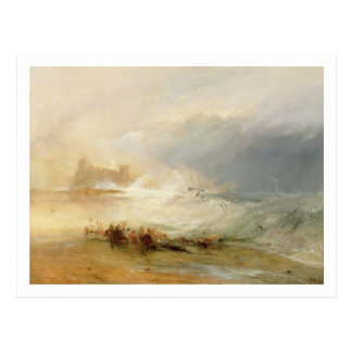 Wreckers - Coast of Northumberland, With a Steam B Postcard