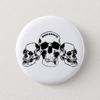Wreckhouse Skulls Round Button