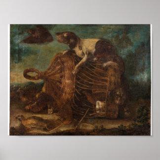 Wrecking dog cage quail NANI, MARIANO Poster