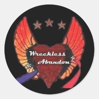 WRECKLESS ABANDON STICKER