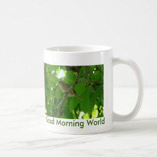 Wren In Tree, Good Morning World Coffee Mug