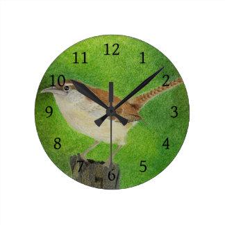 Wren Round Clock