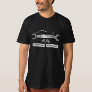 Wrench Mobile Mechanic Auto Repair Men's Black Tee