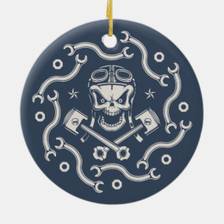 Wrenchy Pistoff Ceramic Ornament