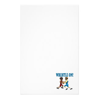 Wreslte On Personalized Stationery