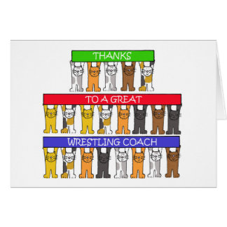 Wresting Coach Thanks Card
