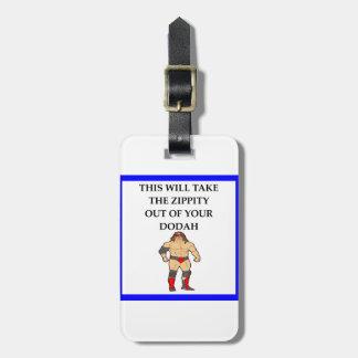 wresting luggage tag