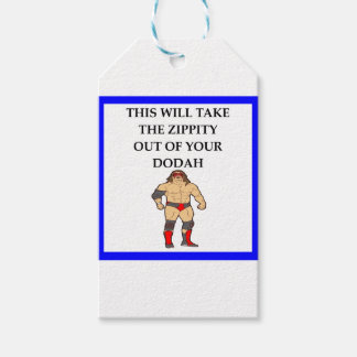 wresting pack of gift tags