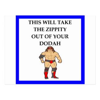 wresting postcard