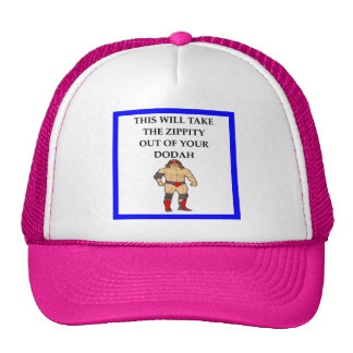 wresting trucker hat