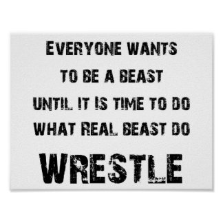 wrestle - real beast poster