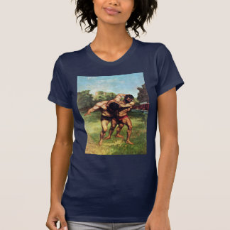 Wrestler By Courbet Gustave T-Shirt
