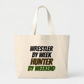 Wrestler by Week Hunter by Weekend Large Tote Bag