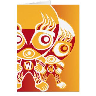 Wrestler Mascot Card