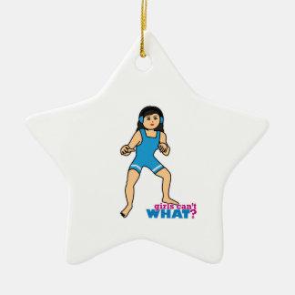 Wrestler - Medium Ceramic Star Ornament
